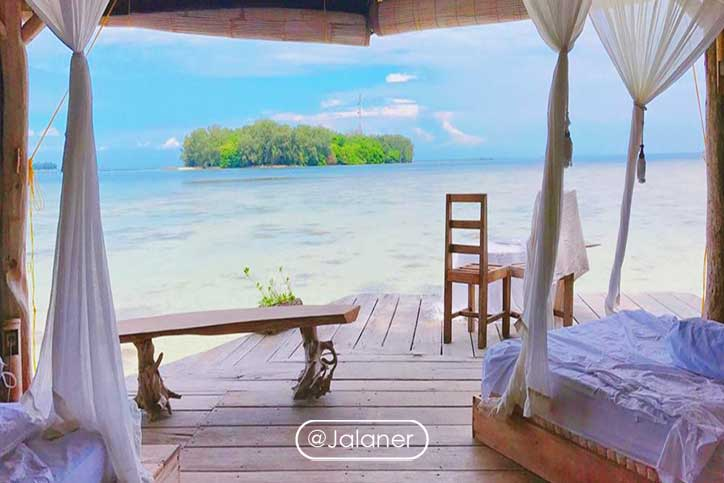 Pulau Macan pasca corona ramai